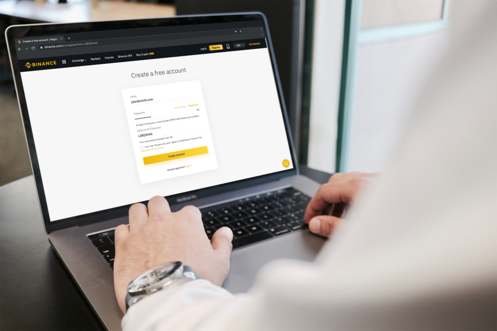 Binance Registration Page